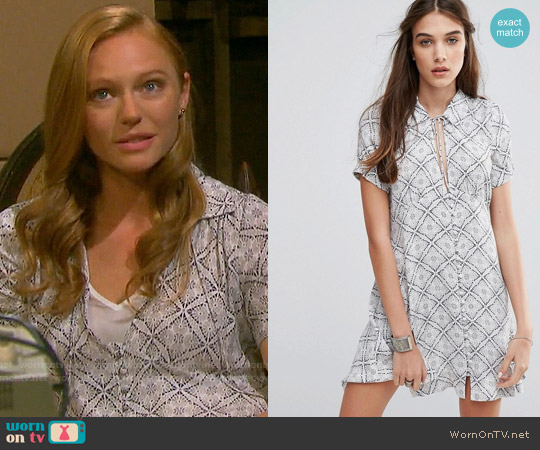 Free People Melody Dress worn by Marci Miller on Days of our Lives