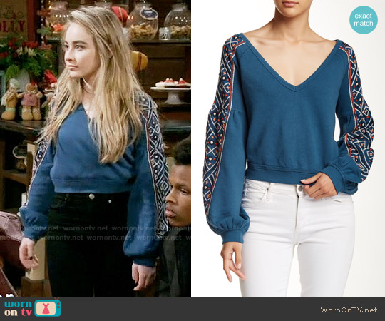 Free People Senorita Pullover worn by Maya Hart (Sabrina Carpenter) on Girl Meets World