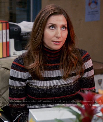 Gina's striped turtleneck sweater on Brooklyn Nine-Nine
