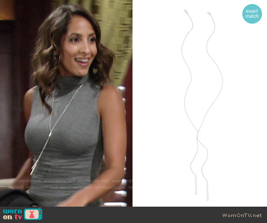 Gorjana Mave Lariat Necklace worn by Christel Khalil on The Young & the Restless
