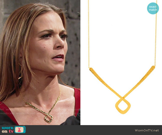 Gorjana Palmoa Necklace worn by Gina Tognoni on The Young & the Restless