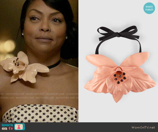 Gucci Flower Necklace in Colored Resin worn by Cookie Lyon on Empire