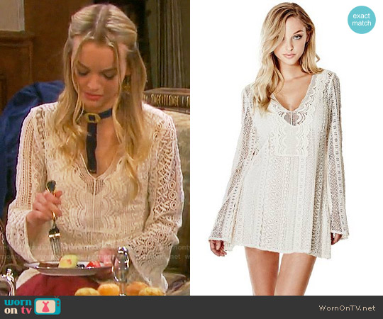 Guess Adalina Crochet Dress worn by Olivia Rose Keegan on Days of our Lives