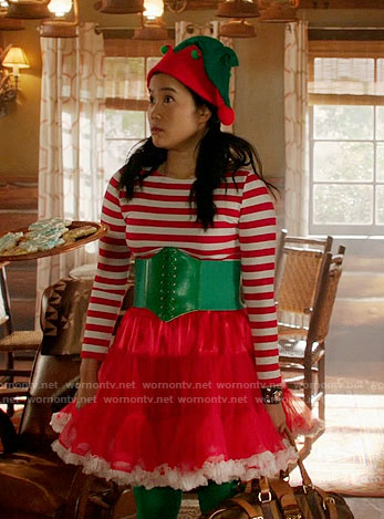 Happy's Christmas Elf costume on Scorpion