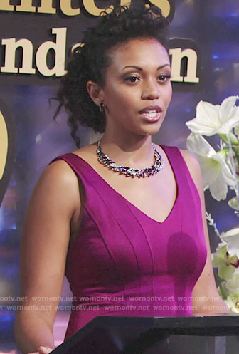 Hilary's magenta gown on The Young and the Restless
