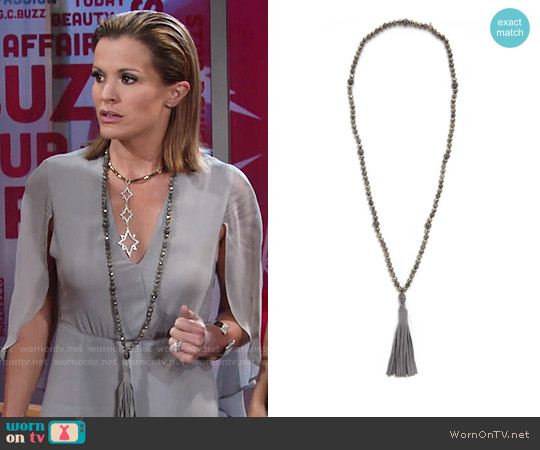 Hipchik Couture Emelia Tassel Necklace worn by Chelsea Lawson on The Young & the Restless