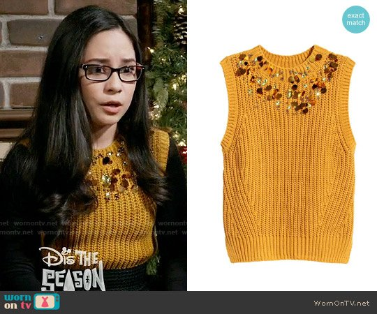 H&M Beaded Top worn by Cecilia Balagot on Girl Meets World