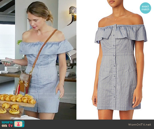 Exclusive for Intermix Ella Off-The-Shoulder Dress worn by Liza Miller (Sutton Foster) on Younger