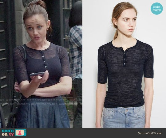 Isable Marant Dina Henley Sweater Tee worn by Rory Gilmore (Alexis Bledel) on Gilmore Girls