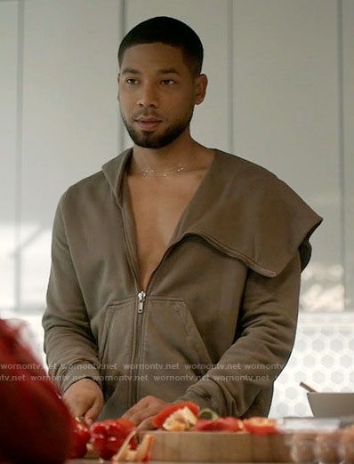 Jamal's asymmetric hoodie on Empire