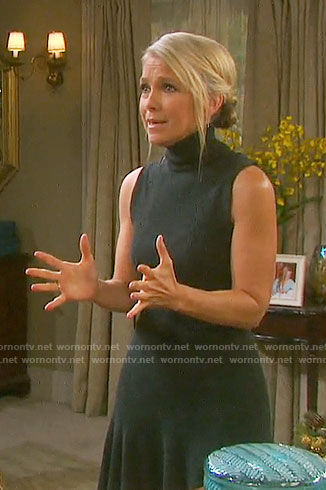 Jennifer's grey turtleneck dress on Days of our Lives