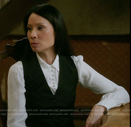 Joan's white button down blouse on Elementary