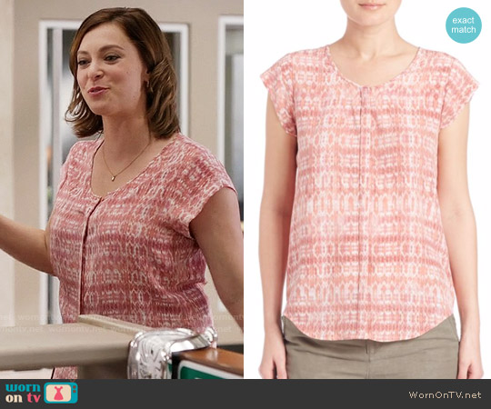 Joie Iva Top in Sunset worn by Rachel Bloom on Crazy Ex-Girlfriend