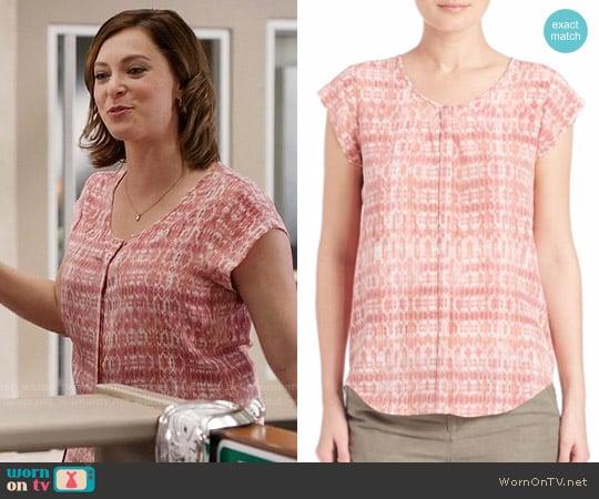 Joie Iva Top in Sunset worn by Rebecca Bunch (Rachel Bloom) on Crazy Ex-Girlfriend
