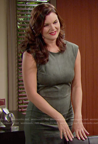 Katie's suede dress on The Bold and the Beautiful