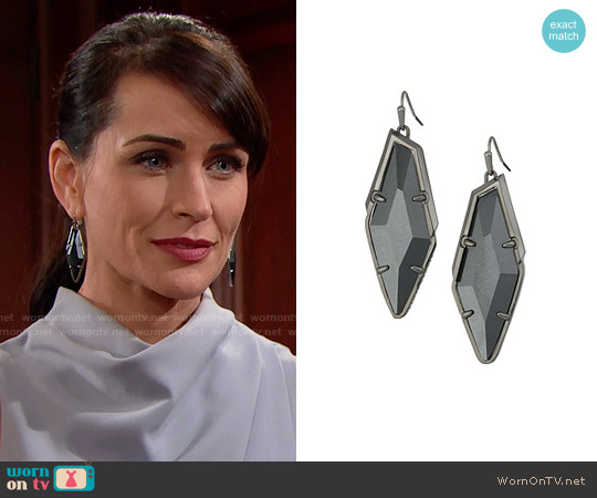Kendra Scott Bexley Earrings worn by Quinn Fuller on The Bold & the Beautiful