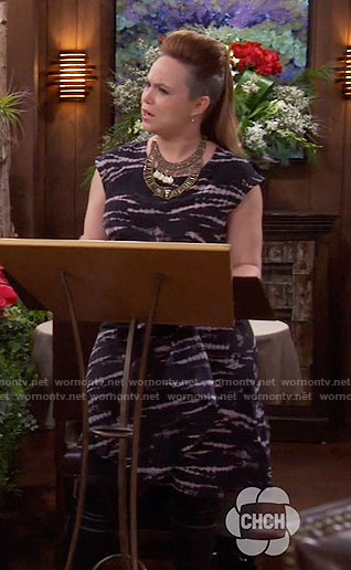 Kristin's tie dyed dress on Last Man Standing