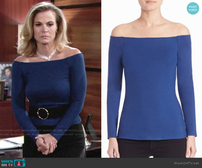 L'Agence Cynthia Top worn by Phyllis Newman (Gina Tognoni) on The Young & the Restless