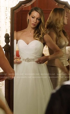 Laurel's wedding dress on Arrow