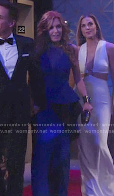 Lauren's blue ruffled gown on The Young and the Restless
