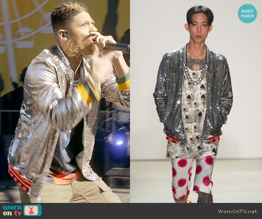 Libertine SS 2016 Collection Silver Bomber Jacket worn by Hakeem Lyon (Bryshere Y. Gray) on Empire