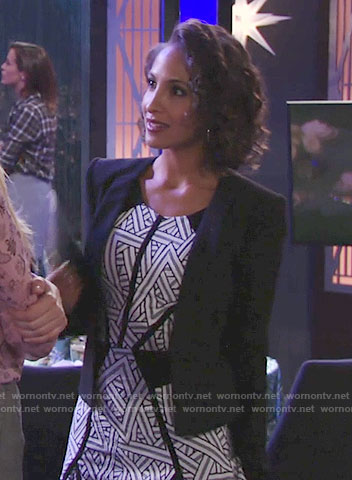 Lily's triangle print dress on The Young and the Restless