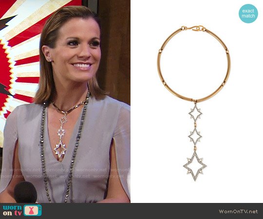 Lulu Frost Nova Necklace worn by Melissa Claire Egan on The Young & the Restless