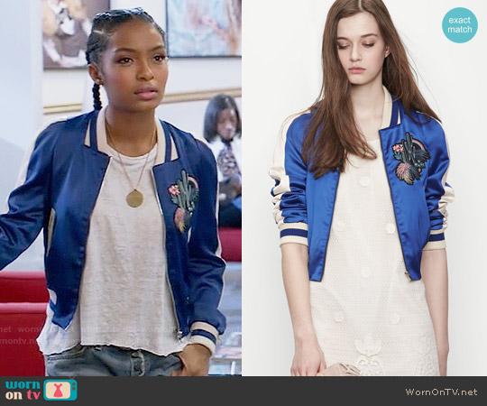 Maje Bacary Jacket worn by Zoey Johnson (Yara Shahidi) on Blackish