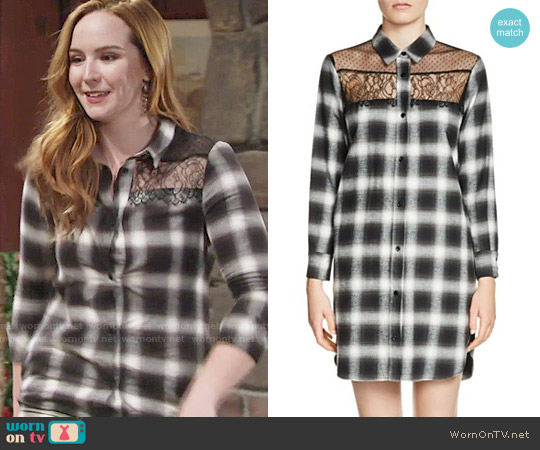 Maje Raja Shirtdress worn by Mariah Copeland (Camryn Grimes) on The Young & the Restless