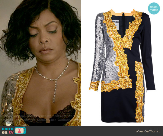 Moschino Sequin Mirror Dress worn by Taraji P. Henson on Empire