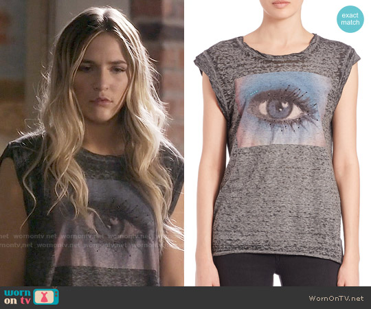 Pam & Gela Frankie Eye Muslce Tee worn by Lennon Stella on Nashville