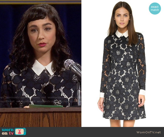 Paul & Joe Sister Iphigenie Collar Dress worn by  Molly Ephraim on Last Man Standing