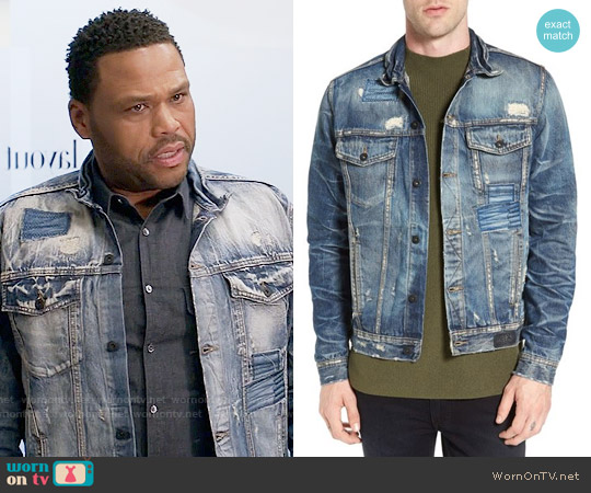PRPS Patchwork Denim Jacket worn by Anthony Anderson on Blackish