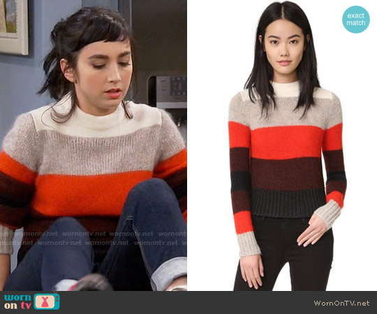 Rag & Bone Britton Pullover worn by Mandy Baxter ( Molly Ephraim) on Last Man Standing