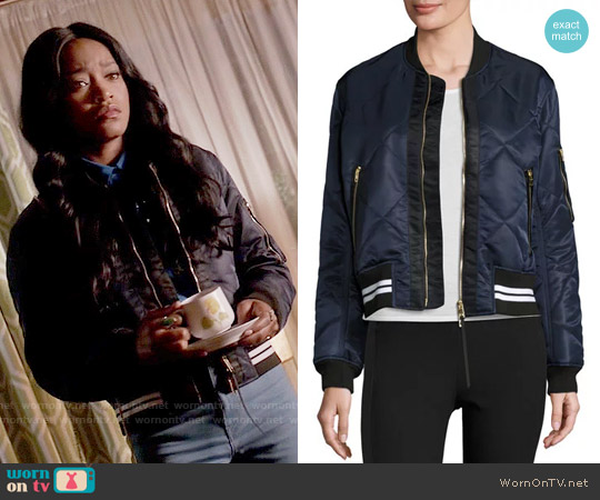 Rag & Bone Vine Bomber Jacket worn by Zayday Williams (Keke Palmer) on Scream Queens