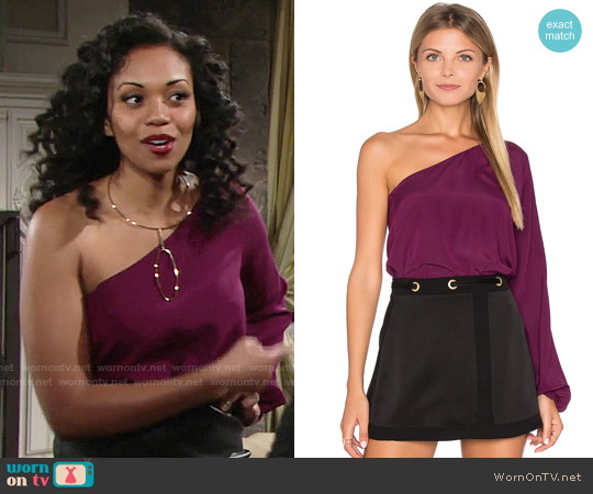 Ramy Brook Kanye Top worn by Hilary Curtis (Mishael Morgan) on The Young & the Restless
