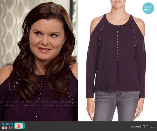 Ramy Brook Maya Sweater worn by Katie Logan (Heather Tom) on The Bold & the Beautiful