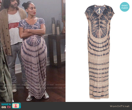 Raquel Allegra Jersey tie-dye slouchy maxi dress worn by Tracee Ellis Ross on Blackish