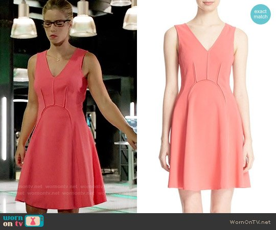 Rebecca Taylor Sleeveless Fit & Flare Dress worn by Emily Bett Rickards on Arrow