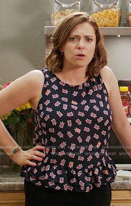 Rebecca's turtle print top on Crazy Ex-Girlfriend