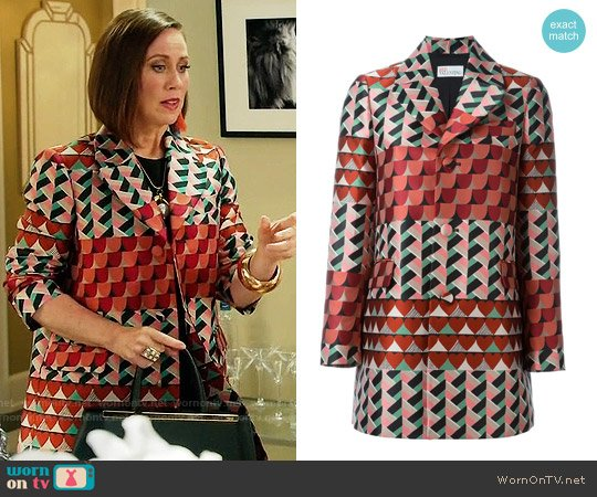 RED Valentino Geometric Print Coat worn by Diana Trout (Miriam Shor) on Younger