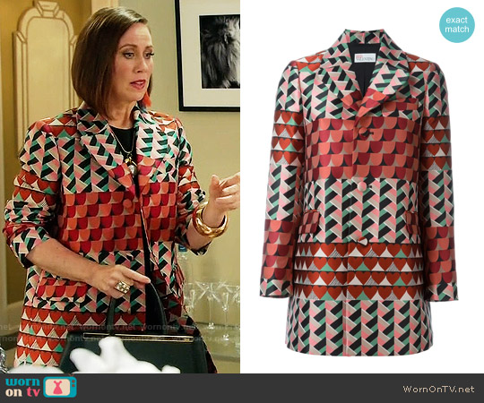 RED Valentino Geometric Print Coat worn by Miriam Shor on Younger