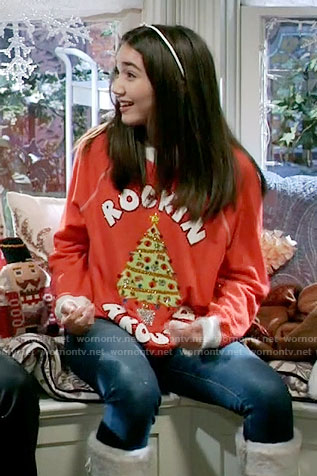 Riley's Rockin Around Christmas sweater on Girl Meets World
