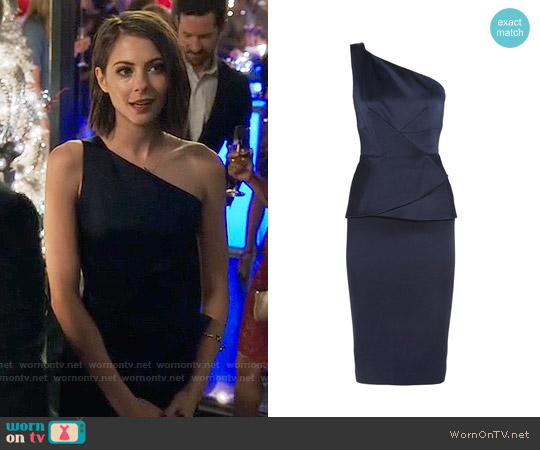 Roland Mouret Anerley Dress worn by Thea Queen (Willa Holland) on Arrow