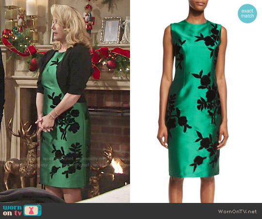 Sachin + Babi Sleeveless Embroidered Cocktail Dress worn by Melody Thomas-Scott on The Young & the Restless