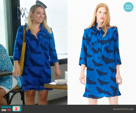 Sandro Bluebella Dress worn by Hilary Duff on Younger