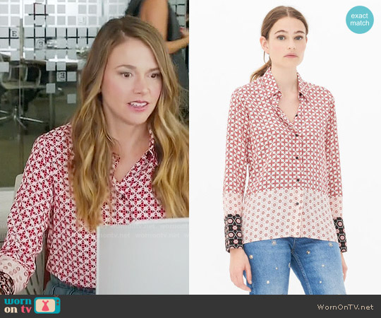 Sandro Boro Shirt worn by Sutton Foster on Younger