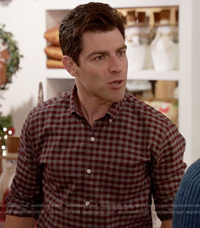 Schmidt's red and grey checked shirt on New Girl