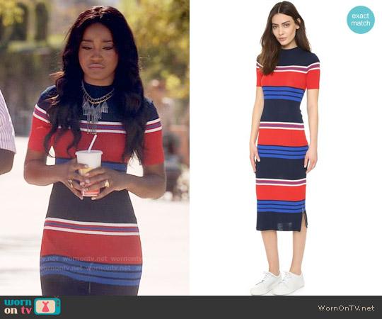 SJYP Stripe Knit Dress worn by Zayday Williams (Keke Palmer) on Scream Queens