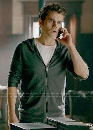 Stefan's hoodie on The Vampire Diaries